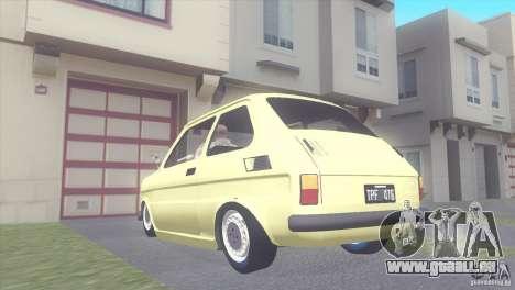 Fiat 126 pour GTA San Andreas laissé vue