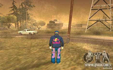 Red Bull Clothes v1.0 für GTA San Andreas her Screenshot