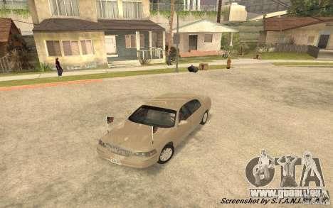 Lincoln Towncar Secret Service pour GTA San Andreas vue de côté