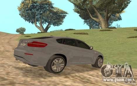 BMW X6M für GTA San Andreas Innenansicht