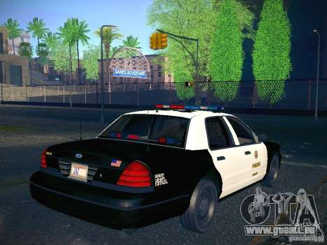 Ford Crown Victoria Police Intercopter pour GTA San Andreas laissé vue