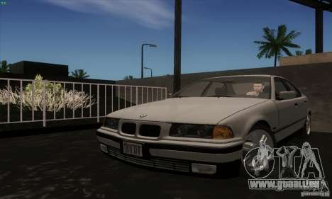 BMW 320i E36 für GTA San Andreas zurück linke Ansicht