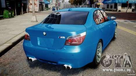 BMW M5 E60 2009 pour GTA 4 Vue arrière de la gauche
