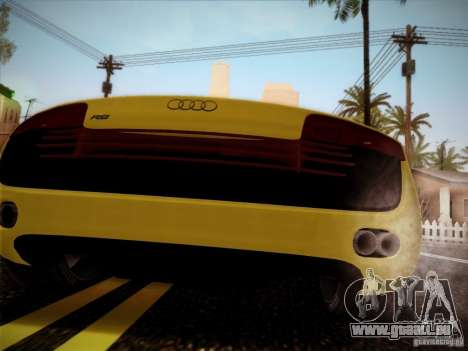 Audi R8 custom pour GTA San Andreas laissé vue