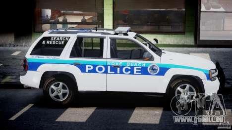 Chevrolet Trailblazer Police V1.5PD [ELS] pour GTA 4 est une vue de l'intérieur