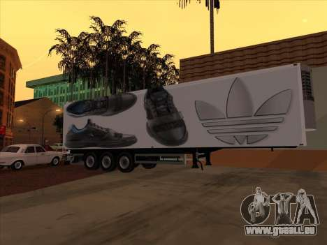 Remorque Adidas pour GTA San Andreas vue intérieure