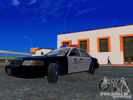 Ford Crown Victoria San Andreas State Patrol pour GTA San Andreas laissé vue