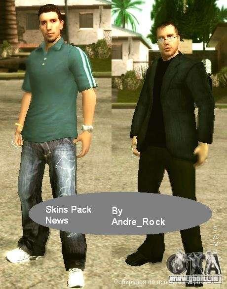Nouvelles de Pac de peau pour SAMP-RP pour GTA San Andreas