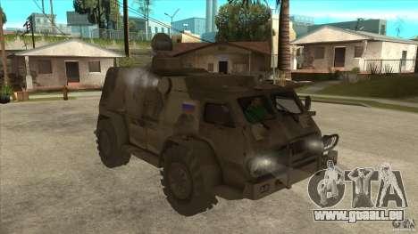GAZ 39371 Vodnik pour GTA San Andreas vue arrière