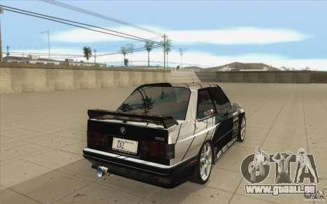 BMW E30 M3 - Coupe Explosive pour GTA San Andreas vue de côté