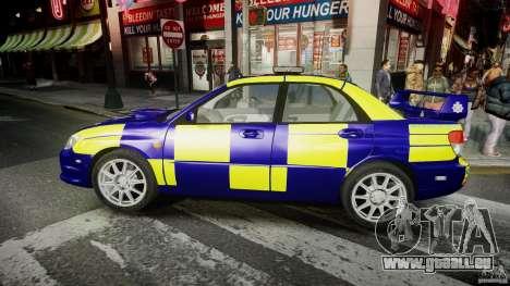 Subaru Impreza WRX Police [ELS] für GTA 4 linke Ansicht