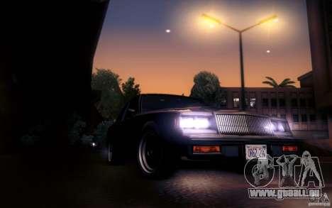 Buick Regal GNX pour GTA San Andreas vue intérieure