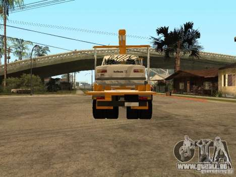 MAZ 54323 DÉPANNEUSE pour GTA San Andreas sur la vue arrière gauche