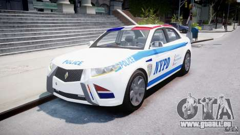 Carbon Motors E7 Concept Interceptor NYPD [ELS] für GTA 4 Rückansicht