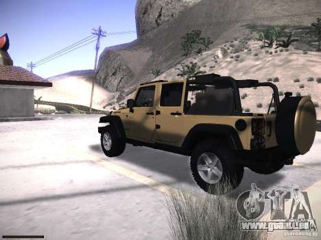 Jeep Wrangler Rubicon Unlimited 2012 für GTA San Andreas linke Ansicht