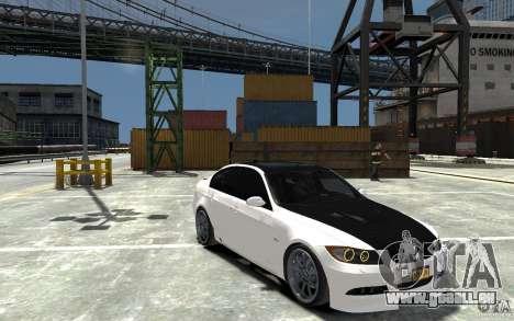BMW 330i E60 Tuned 1 für GTA 4 Rückansicht