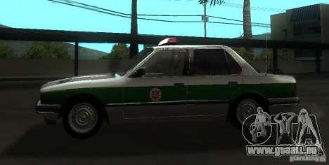 BMW E30 Sedan Police pour GTA San Andreas laissé vue
