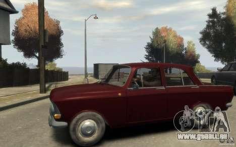 AZLK 412 Moskvich pour GTA 4 est une gauche