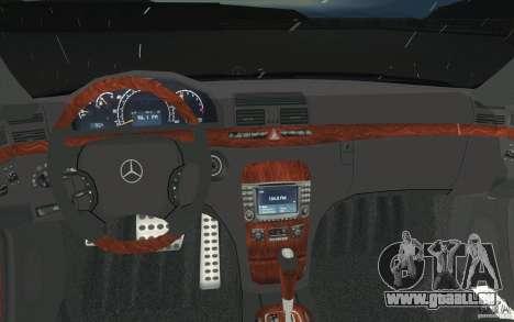 Mercedes-Benz S-Klasse pour GTA San Andreas vue de dessus