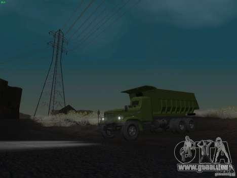 KrAZ-256 b 1-030 pour GTA San Andreas vue de dessous