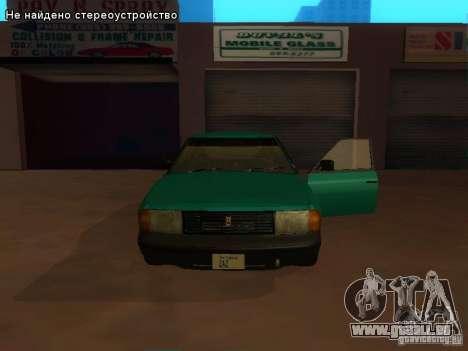 Moskvich 2141 pour GTA San Andreas vue de dessous