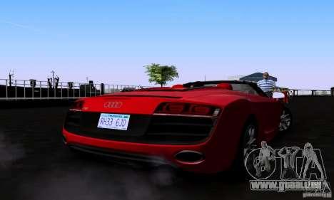 Audi R8 Spyder pour GTA San Andreas laissé vue