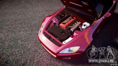 Honda S2000 2002 v2 für glühen für GTA 4 Unteransicht