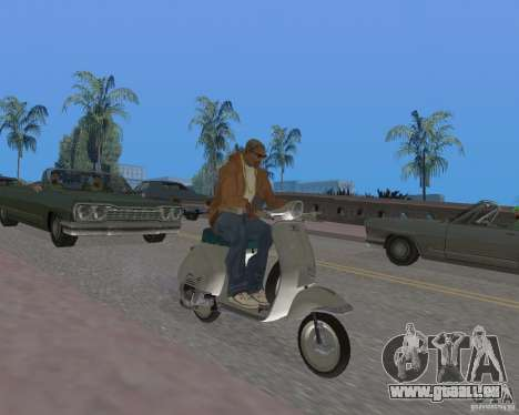 Vespa N-50 pour GTA San Andreas vue de droite