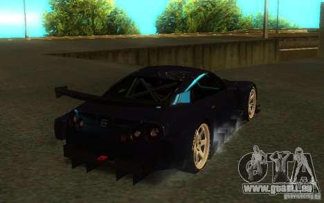 Nissan Skyline R35 GTR pour GTA San Andreas vue de côté