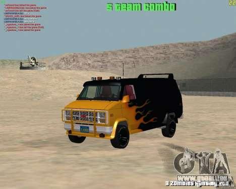 GMC Van 1983 pour GTA San Andreas vue arrière