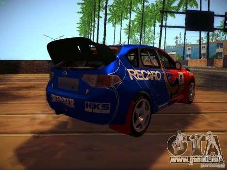 Subaru Impreza WRX STi N14 Rallycross für GTA San Andreas Innenansicht