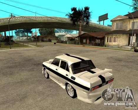 AZLK 2140 sous terre pour GTA San Andreas laissé vue