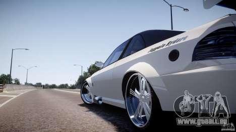 Sultan RS 3.0 pour GTA 4 Vue arrière de la gauche