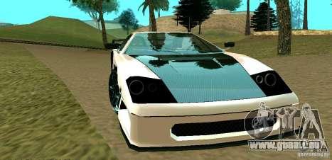 New Turismo pour GTA San Andreas vue de côté