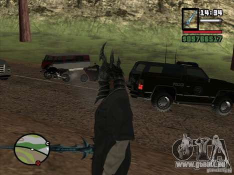 Casque Ner Zula pour GTA San Andreas troisième écran