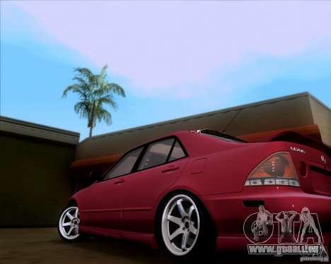 Lexus IS300 Hella Flush pour GTA San Andreas sur la vue arrière gauche