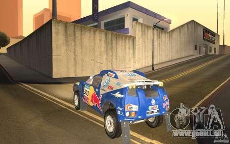 Volkswagen Race Touareg pour GTA San Andreas sur la vue arrière gauche