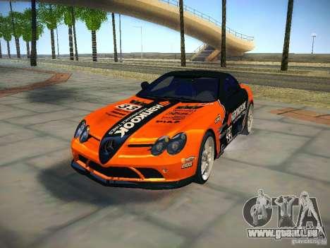 Mercedes SLR McLaren 722 pour GTA San Andreas vue de côté