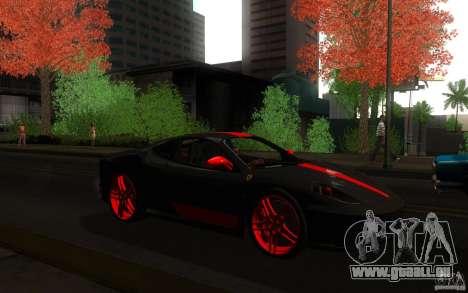 Ferrari F430 für GTA San Andreas Rückansicht