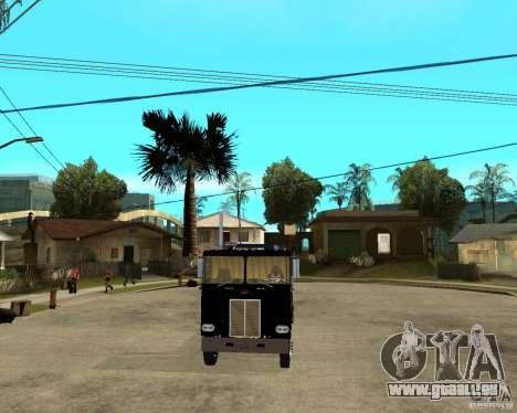 Peterbilt für GTA San Andreas Rückansicht