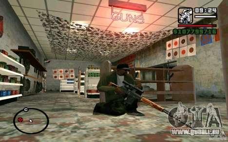 Dragunov sniper rifle v 1.0 pour GTA San Andreas troisième écran