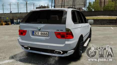 BMW X5 4.8IS BAKU pour GTA 4 Vue arrière de la gauche