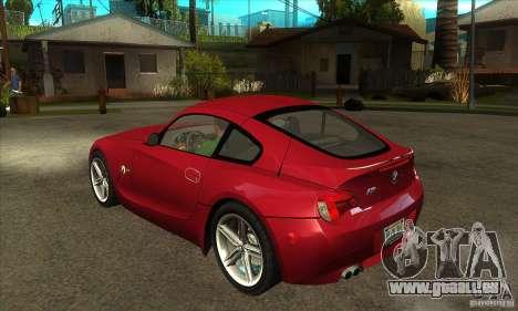 BMW Z4 - Stock pour GTA San Andreas sur la vue arrière gauche