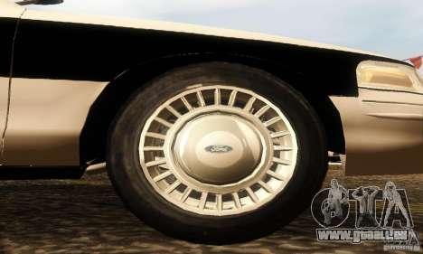 Ford Crown Victoria New Corolina Police pour GTA San Andreas vue de droite