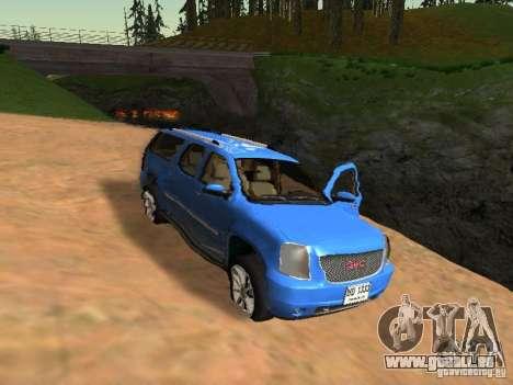 GMC Yukon Denali XL pour GTA San Andreas vue de dessus