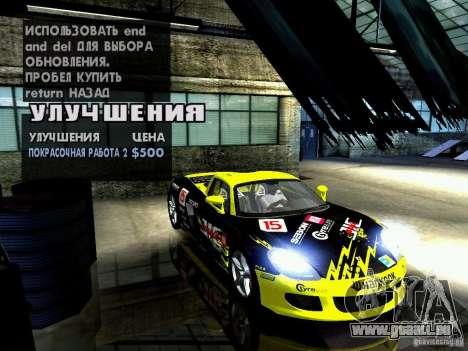 Porsche Carrera GT für GTA San Andreas Unteransicht