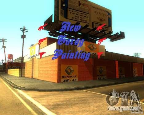 New Garage Painting für GTA San Andreas