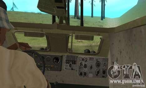 BRDM-1 Skin 2 für GTA San Andreas Innenansicht