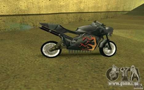 Moto de la ville de Alien pour GTA San Andreas sur la vue arrière gauche