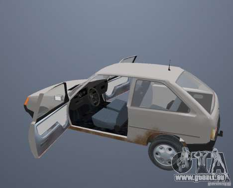 ZAZ Tavria 1102 pour GTA San Andreas vue de dessus